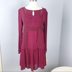 4/$25 Xhilaration Winter Romance burgundy dress